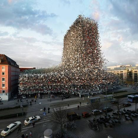 building explode
