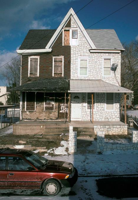 half abandoned home