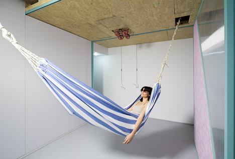 hidden ceiling hammock