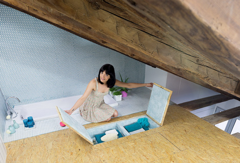 hidden floor storage
