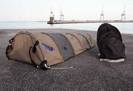 homeless shelter backpack design