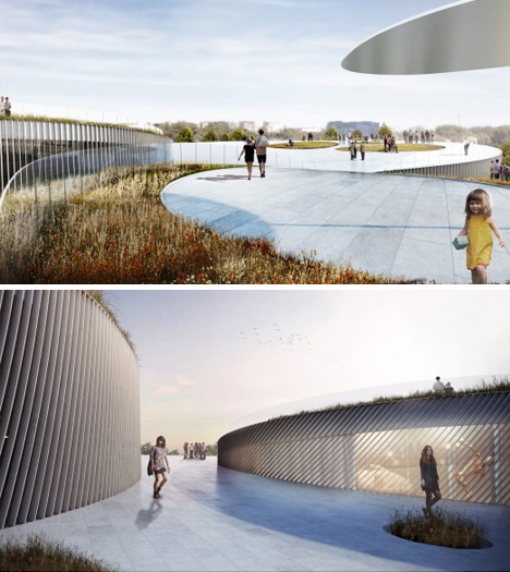 museum exterior roof renderings