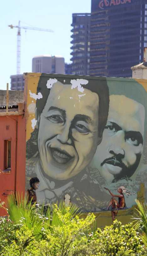 nelson mandela steve biko mural Cape Town
