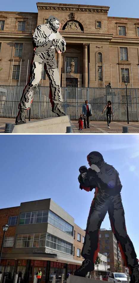 nelson mandela statue boxing