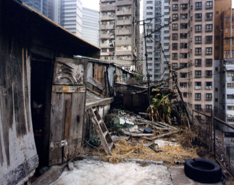 rooftop shanty entry way