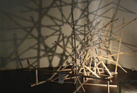 shadow art geometric design