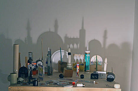 shadow art middle eastern