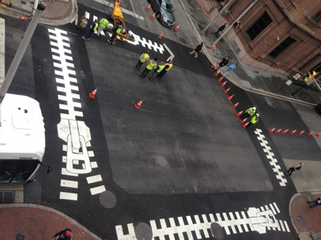 zebra crossing zipper art