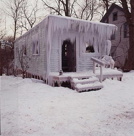 Abandoned Buildings Art Frozen Cottage 1