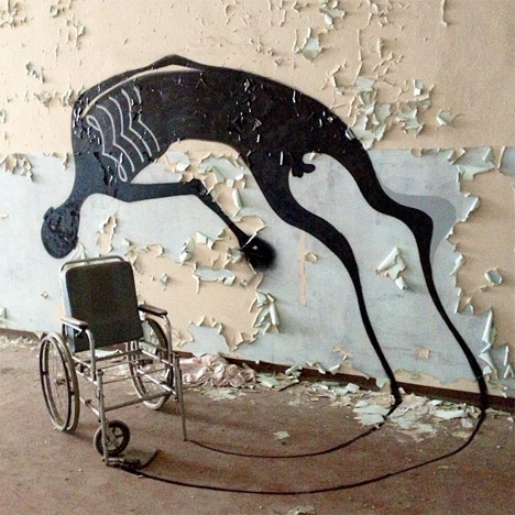 Abandoned Buildings Art Painted Shadows 1