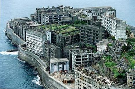 Abandoned Japan Gunkanjima Island