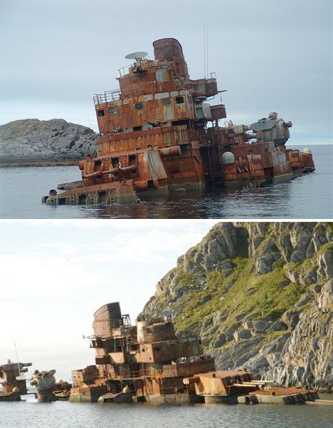 Abandoned Scandinavia Murmansk Ship 1