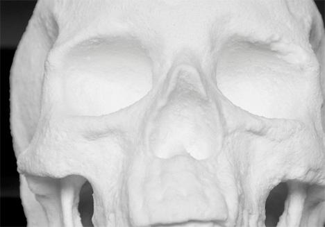 Cocaine skull sculpture 3