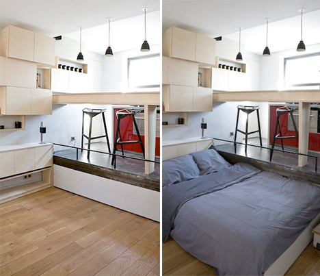 Disappearing Bed Tiny Apartments 1