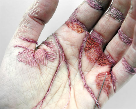 Embroidered Art Flesh Bennet 1