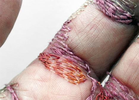 Embroidered Art Flesh Bennet 2