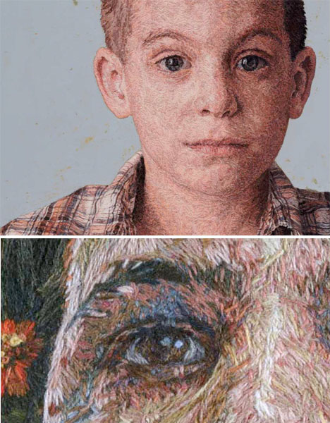 Embroidered Art Intricate Portraits 1