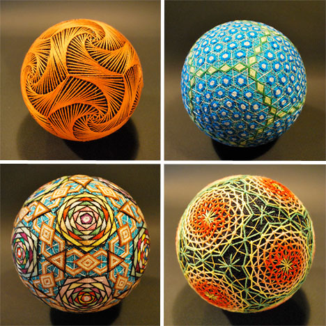 Embroidered Art Tamari Spheres 1