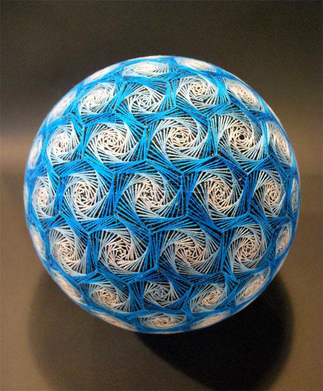 Embroidered Art Temari Spheres 2