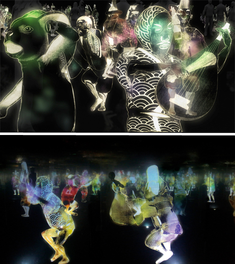 Hologram Art Dancing Japanese Teamlab