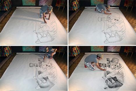 Pencil vs Camera Optical Illusion Drawings 2