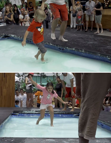 Walking On Water Fun Non Newtonian Fluid Experiment