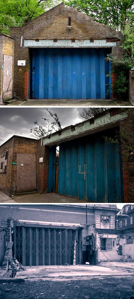 abandoned old Hackney Ambulance Station London