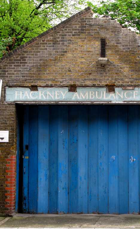 old abandoned Hackney Ambulance Station London