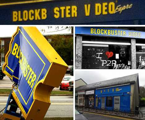 abandoned closed Blockbuster Video stores