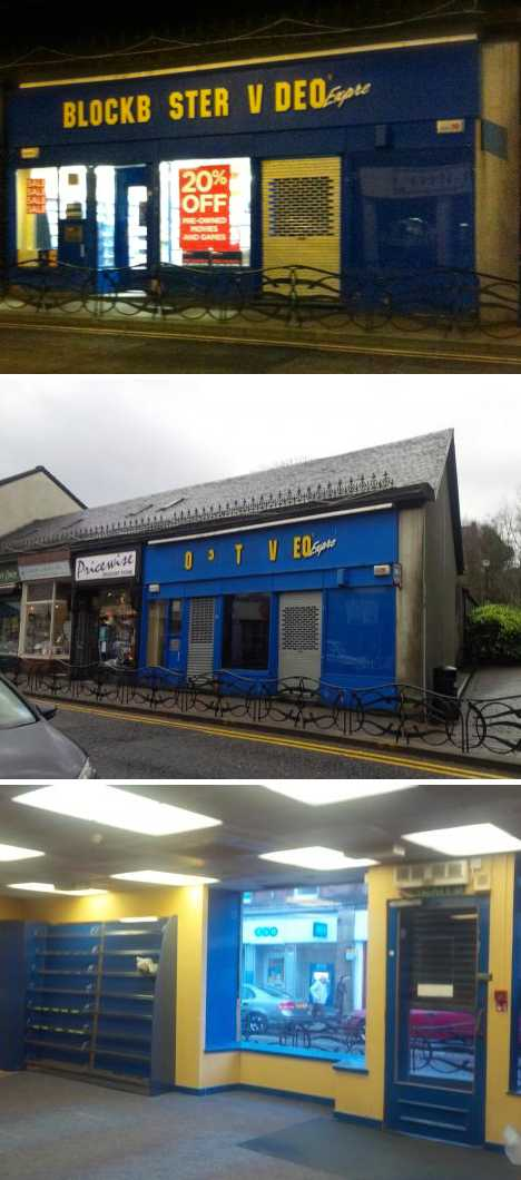 closed abandoned Blockbuster Video Dunoon Scotland