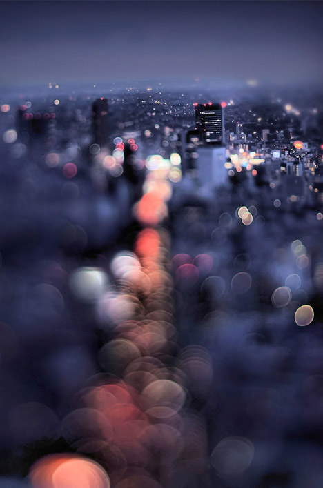 bokeh blurred city street