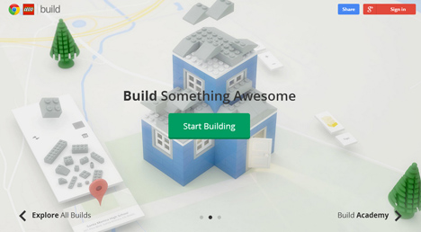 build with chrome page
