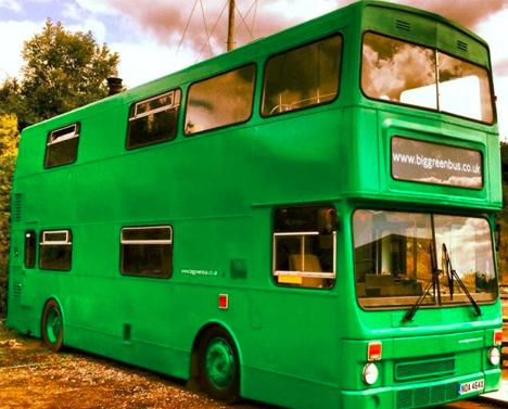bus hotel big green