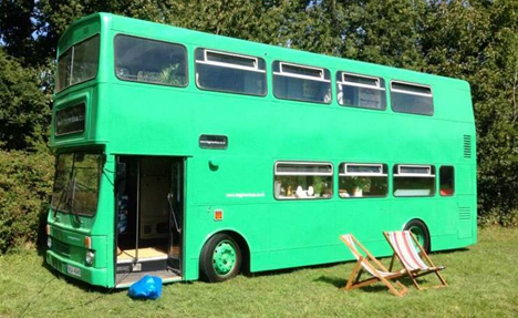 bus hotel outside view