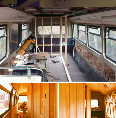 bus hotel renovation project
