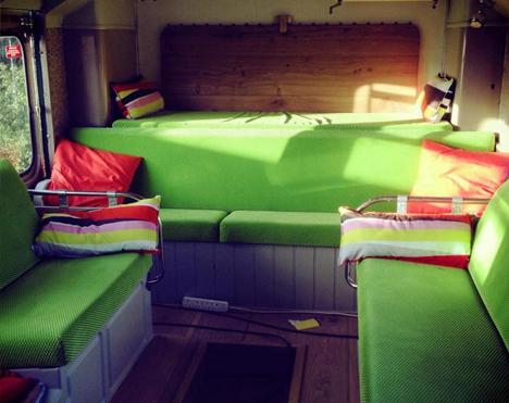 bus hotel seating sleeping