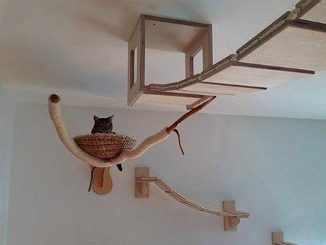 cat ceiling snuggle basket