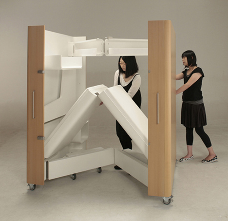 compact fold out bedroom