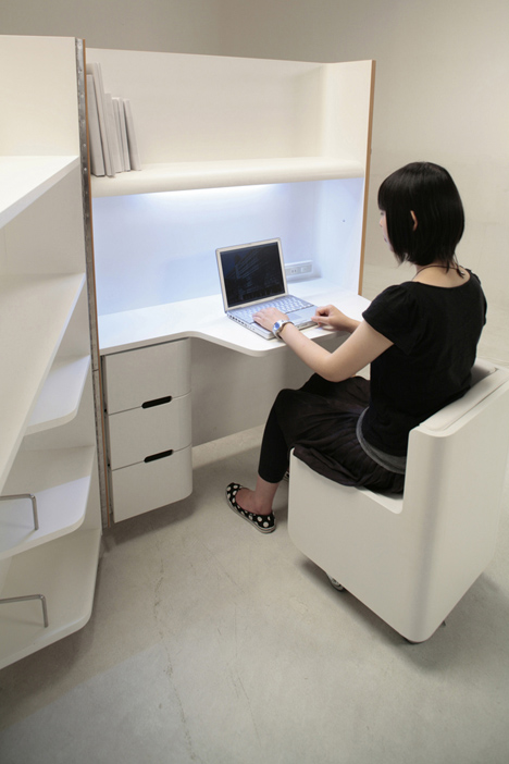 compact fold out office