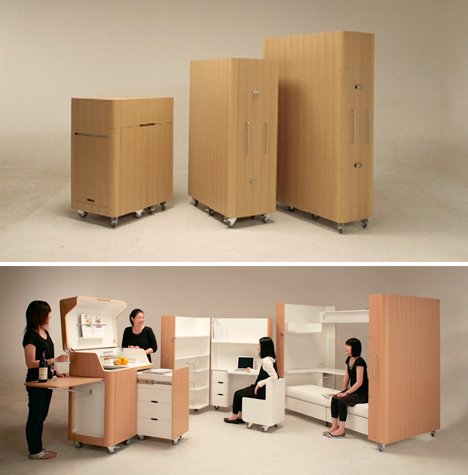 compact modular rooms spaces
