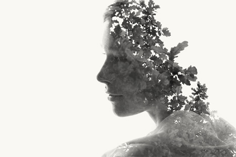double exposures nature and humans