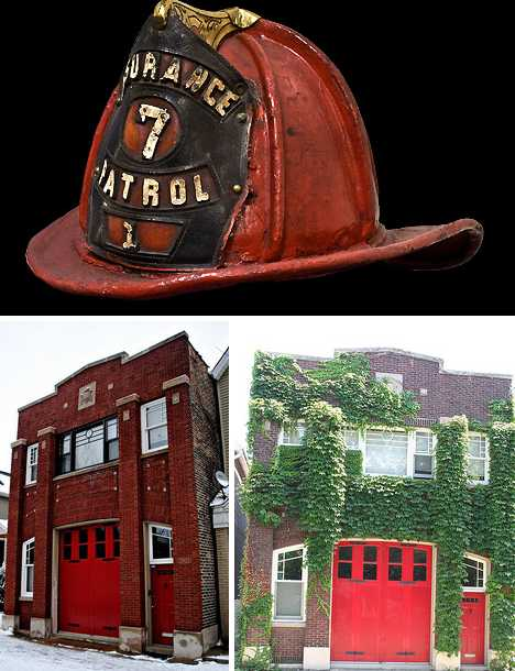 Chicago restored firehouse Ravenswood