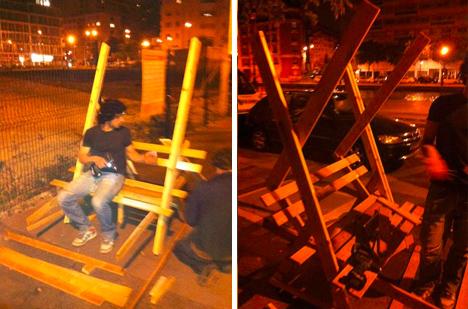 guerrilla urban public construction