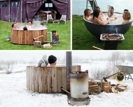 hot tub cookout barbeque