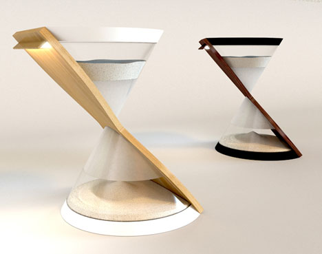 hourglass table sized light