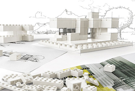 lego architectural white sketch