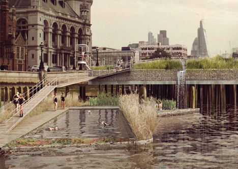 Swim The Thames Pair Of Pools For London S Polluted River Urbanist
