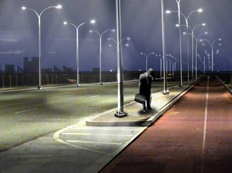 motion illumination public space