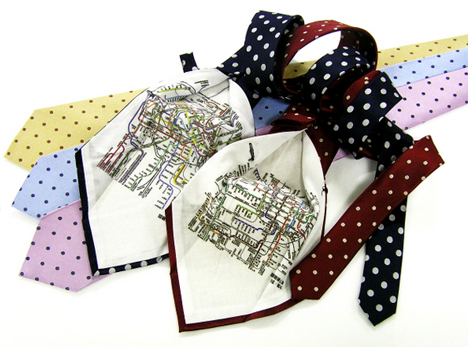 necktie subway map japan
