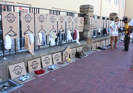pop up sidewalk homeless